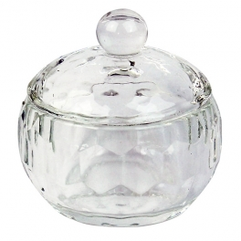 Bowl with cap for acrylic liquid