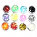 12 colors glitter 2-3mm hexagon kit