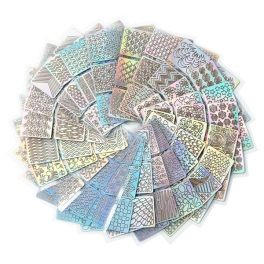 Nails hologram stickers / templates 24 sheet kit x 3 types for each x 2 pcs