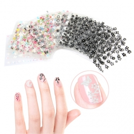 50 sheets kit 2D / 3D transparency nail stickers around 250 types x 2-10pcs for each