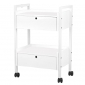Trolley with two lockable drawers for beauty products