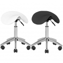 Saddle stool white / black