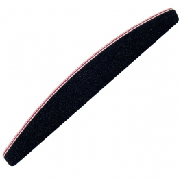Nail file half moon black 1/5/10pcs