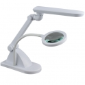 Table lamp with magnifier