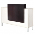 Reception desk white / black
