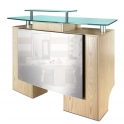 Reception desk / cash register wood / glass / metal