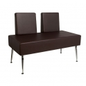 Waiting room sofa dark brown