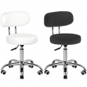 Low working stool for foot treatment white
