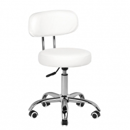 Low working stool for foot treatment white / black