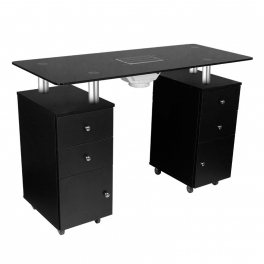 Table 317 / glass top black with dust collector