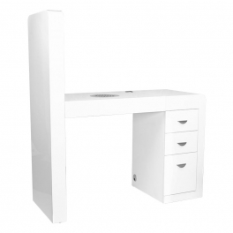 Table 31 white with dust extraction and shelves