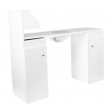 Table MT-203 white with dust extraction and shelves