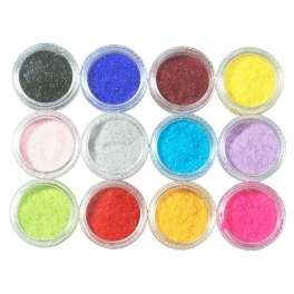 Velvet nail powder kit 12 colors