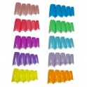 Colored clear nail tips
