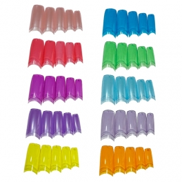 Colored clear nail tips ► Choose color