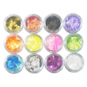 12 colors glitter square / rhomb kit