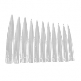 Extra long stiletto nail tips clear