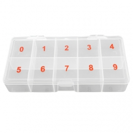 Numbered big empty nail tips box