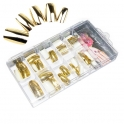 Gold nail tips in box